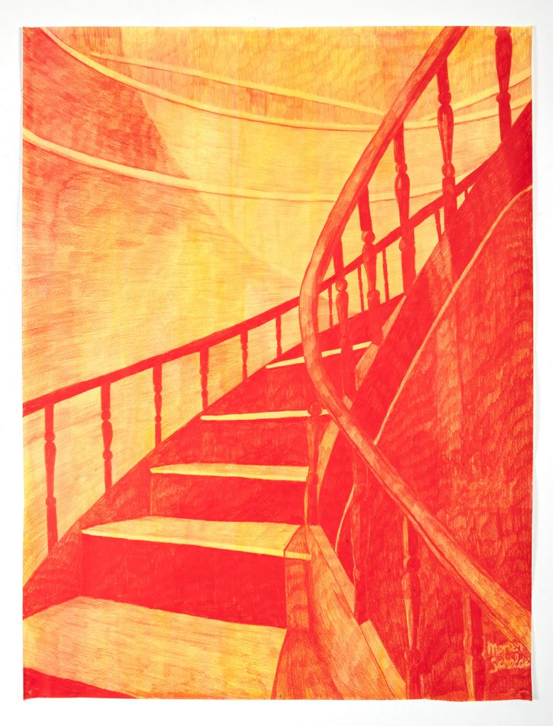 The Staircase III, 100X75 cm, 2019